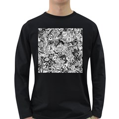 Halloween Pattern Long Sleeve Dark T Shirts