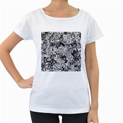 Halloween Pattern Women s Loose Fit T Shirt (white)