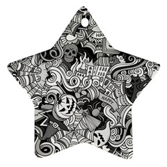 Halloween Pattern Star Ornament (two Sides)