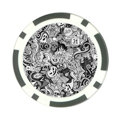 Halloween Pattern Poker Chip Card Guard