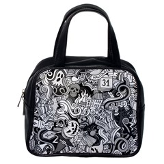 Halloween Pattern Classic Handbags (one Side)