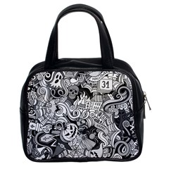 Halloween Pattern Classic Handbags (2 Sides)