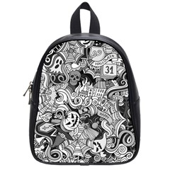 Halloween Pattern School Bag (small)