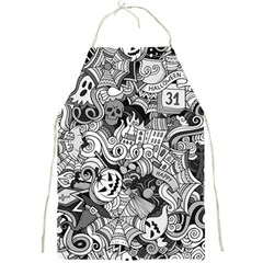 Halloween Pattern Full Print Aprons