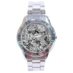Halloween Pattern Stainless Steel Analogue Watch