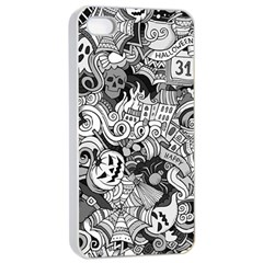 Halloween Pattern Apple Iphone 4/4s Seamless Case (white)