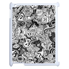 Halloween Pattern Apple Ipad 2 Case (white)