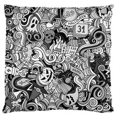 Halloween Pattern Large Cushion Case (one Side)