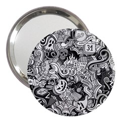 Halloween Pattern 3  Handbag Mirrors