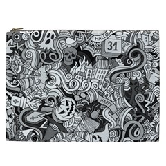 Halloween Pattern Cosmetic Bag (xxl)