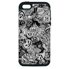 Halloween Pattern Apple Iphone 5 Hardshell Case (pc+silicone)