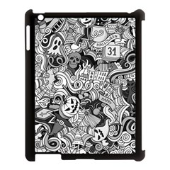 Halloween Pattern Apple Ipad 3/4 Case (black)