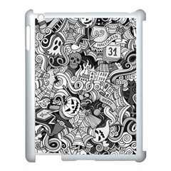 Halloween Pattern Apple Ipad 3/4 Case (white)