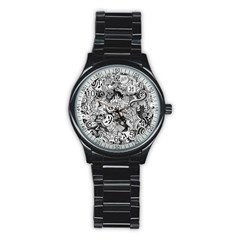 Halloween Pattern Stainless Steel Round Watch