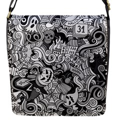 Halloween Pattern Flap Messenger Bag (s)