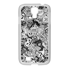 Halloween Pattern Samsung Galaxy S4 I9500/ I9505 Case (white)