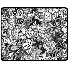 Halloween Pattern Double Sided Fleece Blanket (medium)