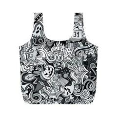 Halloween Pattern Full Print Recycle Bags (m)