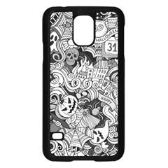 Halloween Pattern Samsung Galaxy S5 Case (black)