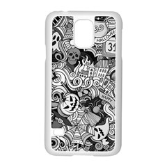 Halloween Pattern Samsung Galaxy S5 Case (white)