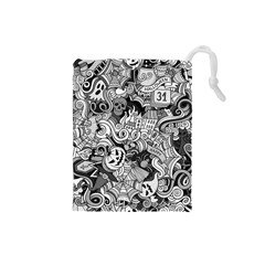 Halloween Pattern Drawstring Pouches (small)