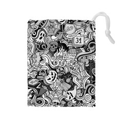 Halloween Pattern Drawstring Pouches (large)