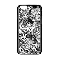 Halloween Pattern Apple Iphone 6/6s Black Enamel Case