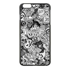 Halloween Pattern Apple Iphone 6 Plus/6s Plus Black Enamel Case