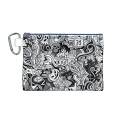 Halloween Pattern Canvas Cosmetic Bag (m)