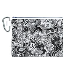 Halloween Pattern Canvas Cosmetic Bag (l)