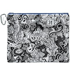 Halloween Pattern Canvas Cosmetic Bag (xxxl)