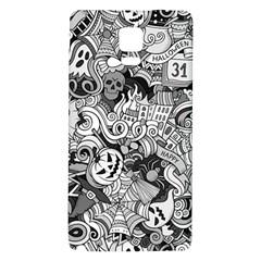 Halloween Pattern Galaxy Note 4 Back Case