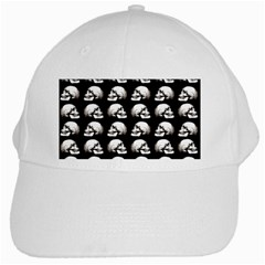 Halloween Skull Pattern White Cap