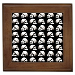 Halloween Skull Pattern Framed Tiles