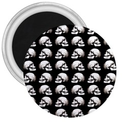 Halloween Skull Pattern 3  Magnets