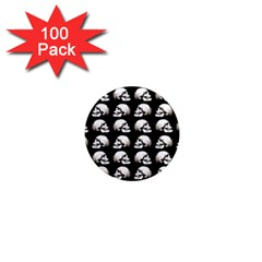 Halloween Skull Pattern 1  Mini Magnets (100 Pack)
