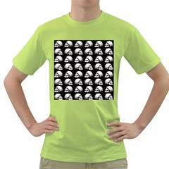 Halloween Skull Pattern Green T Shirt