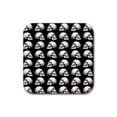 Halloween Skull Pattern Rubber Square Coaster (4 Pack)
