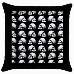 Halloween Skull Pattern Throw Pillow Case (black)