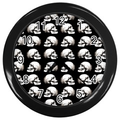 Halloween Skull Pattern Wall Clocks (black)