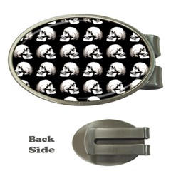 Halloween Skull Pattern Money Clips (oval)