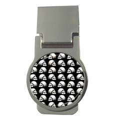 Halloween Skull Pattern Money Clips (round)
