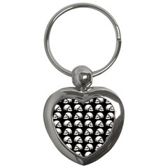 Halloween Skull Pattern Key Chains (heart)