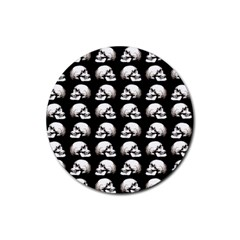 Halloween Skull Pattern Rubber Round Coaster (4 Pack)