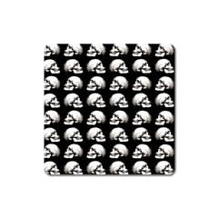 Halloween Skull Pattern Square Magnet