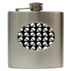 Halloween Skull Pattern Hip Flask (6 Oz)