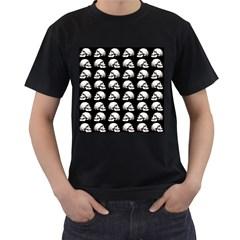 Halloween Skull Pattern Men s T Shirt (black) (two Sided)