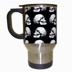 Halloween Skull Pattern Travel Mugs (white)