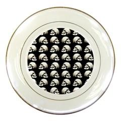 Halloween Skull Pattern Porcelain Plates