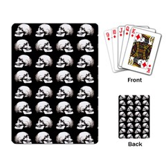 Halloween Skull Pattern Playing Card